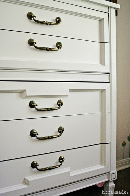 White and Brass Dresser