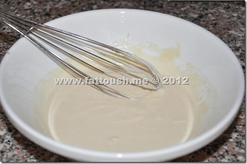 وصفة صلصة الطحينة من www.fattoush.me
