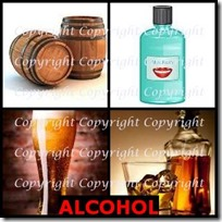 ALCOHOL- 4 Pics 1 Word Answers 3 Letters