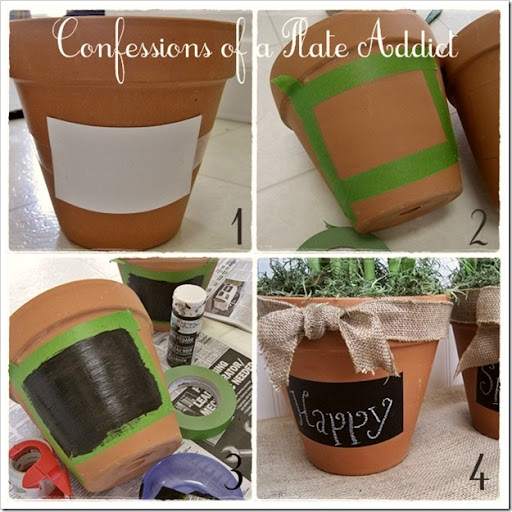 CONFESSIONS OF A PLATE ADDICT Chalkboard Flower Pot Tutorial