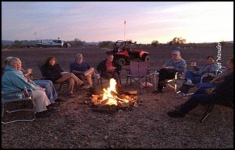 Quartzsite campfire by Jeri