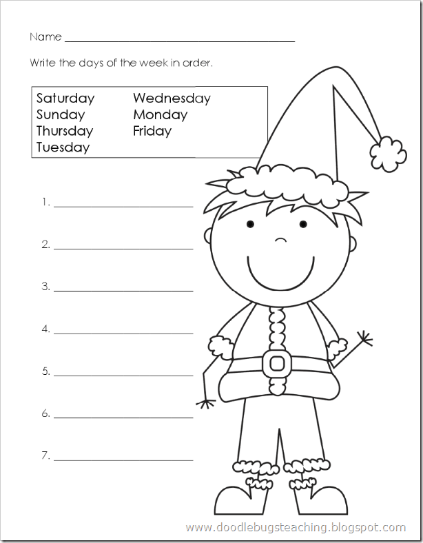 Doodle Bugs Teaching {first grade rocks!}: Christmas Days