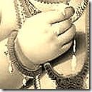 Krishna's lotus hand