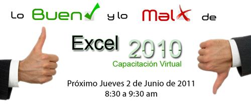 Lo bueno y lo malo de Excel 2010