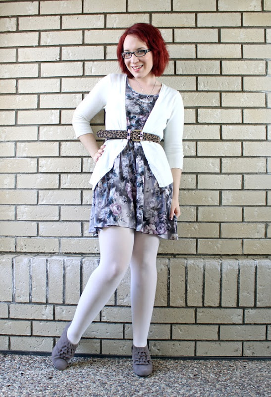 white tights outfit