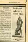 Parktown Exhibiton looks back