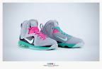 nike lebron 9 ps elite grey candy pink 9 02 sneakerbox LeBron 9 P.S. Elite Miami Vice Official Images & Release Date