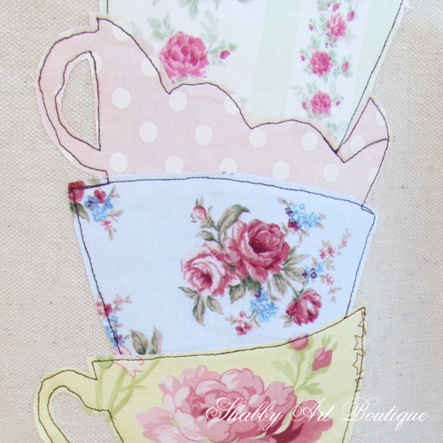 Shabby Art Boutique tea towel 5