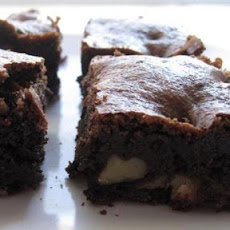Amaretto Chocolate Brownies with Walnuts