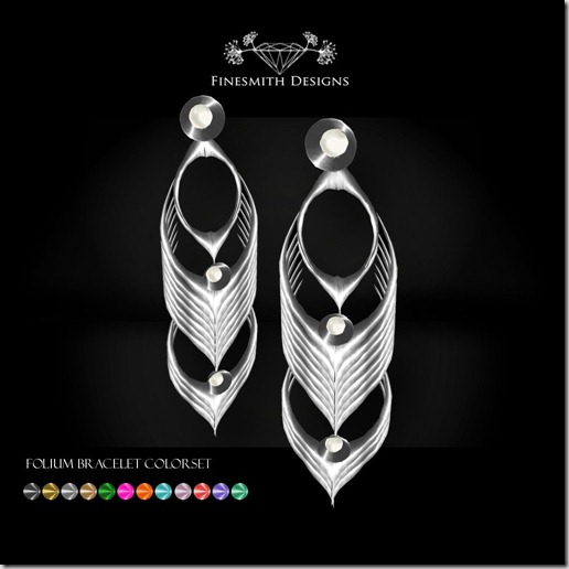 folium earrings colorset