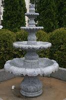 4-Tier Acanthus Self Contained Fountain, Charcoal Grey