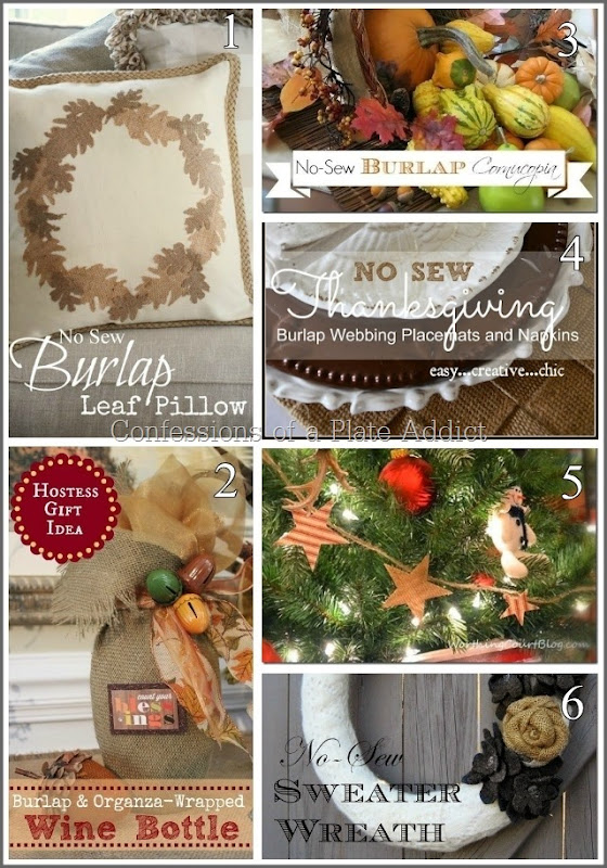CONFESSIONS OF A PLATE ADDICT 20 No-Sew Projects with Burlap