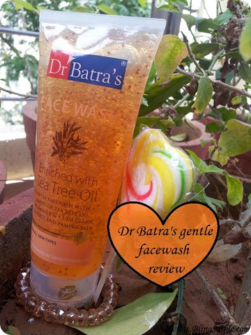 Dr Batra's face wash with tea tree oil review.