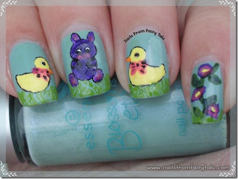 easter bunny with chickens 4