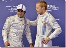 Felipe Massa e Valtteri Bottas