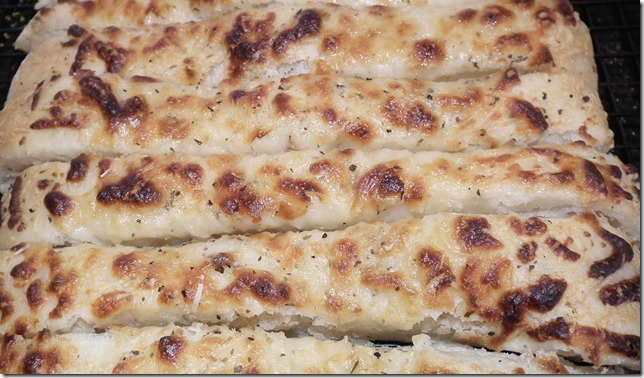 Breadsticks from Oasis Naan