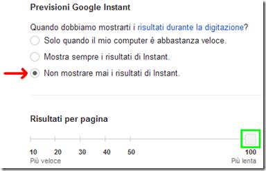 Google come aumentare i risultati di ricerca per pagina