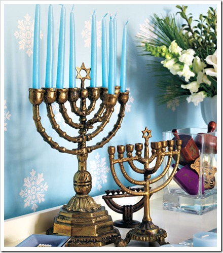 hannukah-menorah style at home
