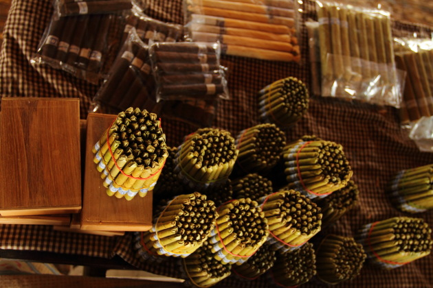 Burmese Cheroots look like Bullet Shells at Inle Lake, Burma
