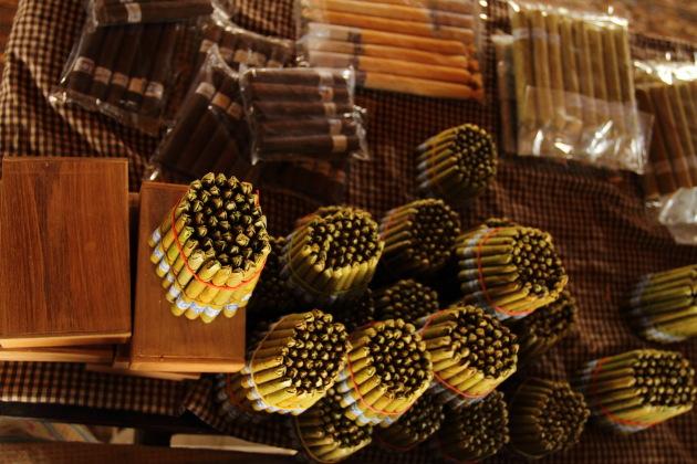 Burmese Cheroots look like Bullet Shells at Inle Lake, Burma