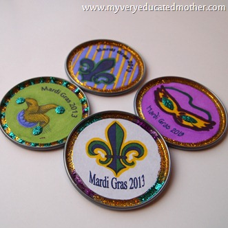 @mvemother #MardiGrasdoubloons #kidscraft  #printable #free #crafting #2013