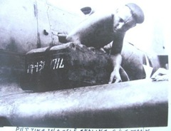 ww2 dad working on plane