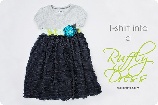 ruffly dress tutorial