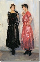 387px-Isaac_Israëls_-_Two_models,_Epi_and_Gertie,_in_the_Amsterdam_Fashion_House_Hirsch