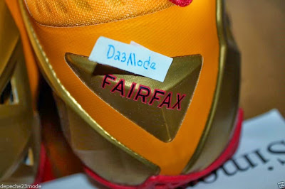 nike lebron 11 pe fairfax away 1 09 Nike LeBron XI (11) Fairfax Lions Away PE   Detailed Look