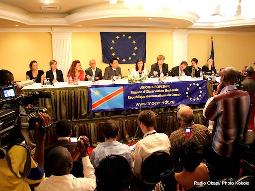 La conférence de presse de la mission d'observation électorale de l'Union Européenne en RDC le 19/10/2011 à Kinshasa. Radio Okapi/ Photo John Bompengo