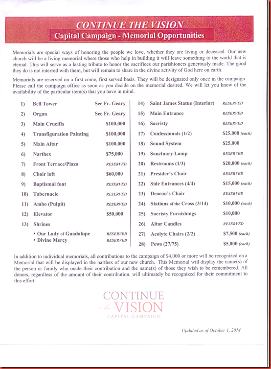 Continue the Vision  Capital  Campaign  page 13
