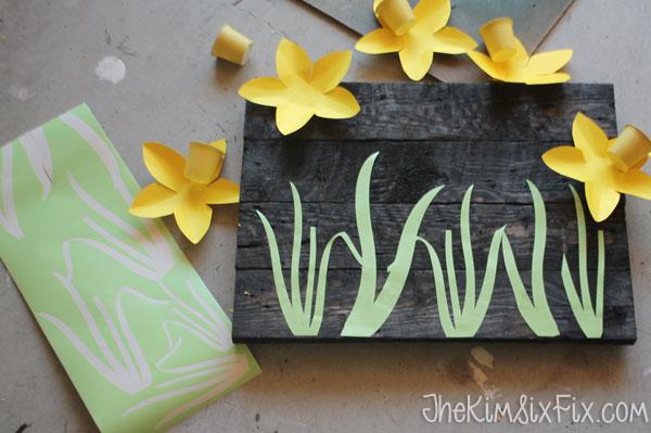 Adding vinyl flower stems