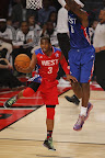lebron james nba 130217 all star houston 60 game 2013 NBA All Star: LeBron Sets 3 pointer Mark, but West Wins