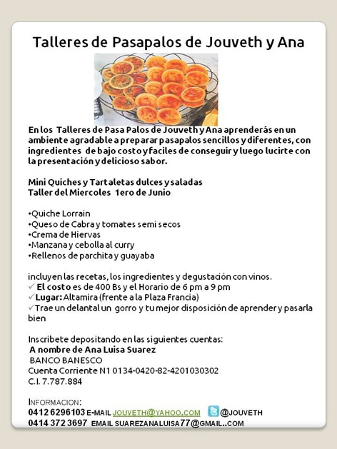 Invitacion Taller Tartaletas