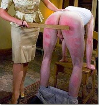 thigh spanking