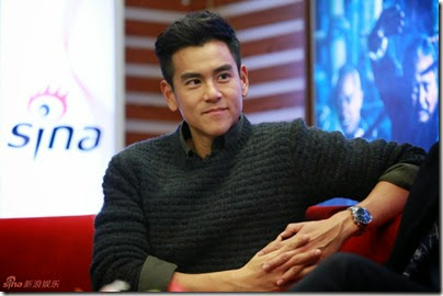 2014.11.18 Eddie Peng during Rise of the Legend - 彭于晏 黃飛鴻之英雄有夢 做客新浪 08