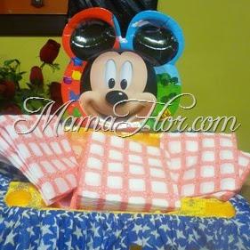 Bandeja para Servilletas: con reciclaje de mickey mouse