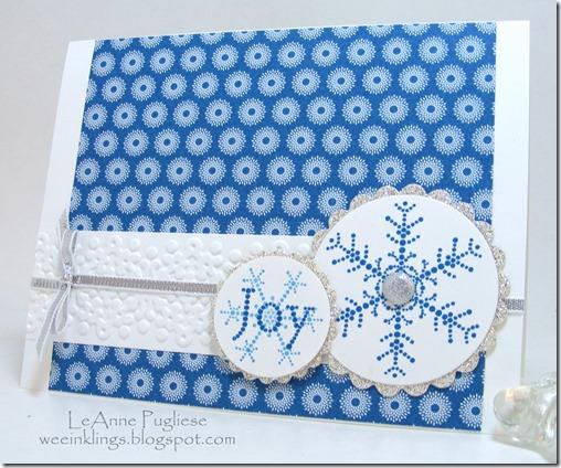 LeAnne Pugliese WeeInklings Stampin Up Snowflake Spot Christmas