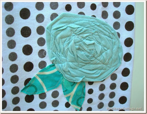 {Northern Cottage} Scrappy Aqua Flower (2)