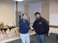 KCII's General Manager Joe Nichols delivering food at HACAP