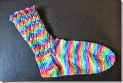 Socktoberfest Sock 1 complete
