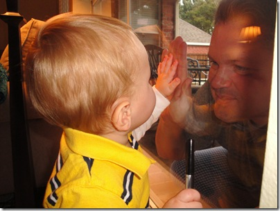 9.  Knox and Daddy's hands