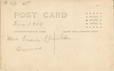 Postcard Suzie 1910 from Jen back