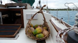 Entlohnung für die Bootsreparaturen.