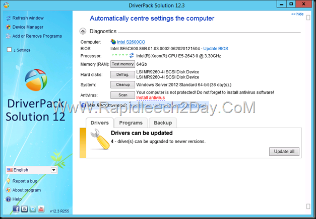 Download DriverPack Solution 12.3 Full Windows 8 - The Most Powerful for Finding And Automatically Installing Drivers- Desktop/Laptop/Netbook