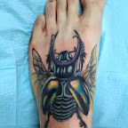 foot big bug - tattoos for women