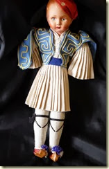 Greek soldier doll