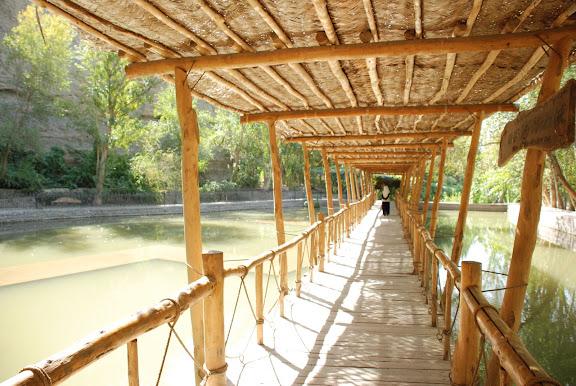 Turfan - Putaogou pont de bois