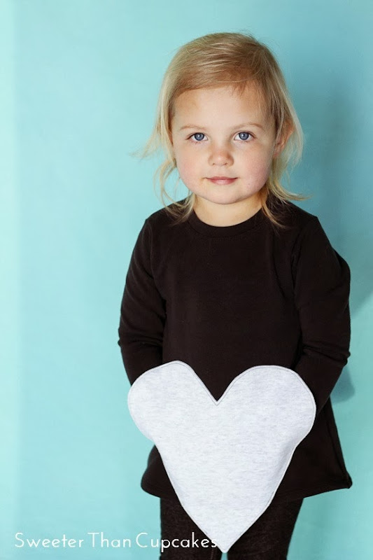 heart pocket sweatshirt