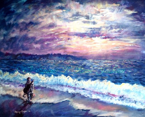 10 beautiful acrylic and oil seascape paintings for Pretty acrylic paintings